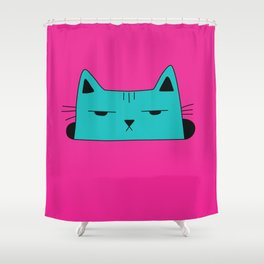 This moody cat wants to hide Shower Curtain