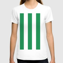 Classic Cabana Stripes in White + Kelly Green T-shirt