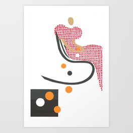 Girl with oranges 3 Art Print