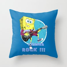 i wanna rock !!! Throw Pillow