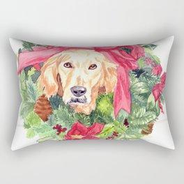 Christmas Wreath Rectangular Pillow
