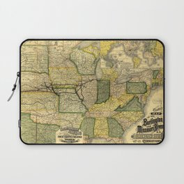 Map of the Burlington & Missouri River Railroad (1882) Laptop Sleeve