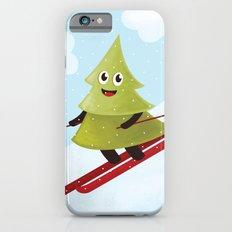Happy Pine Tree on Ski iPhone 6s Slim Case