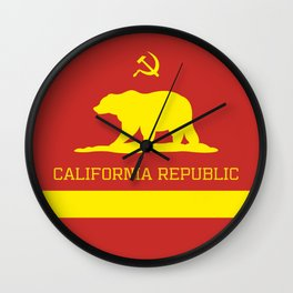 Cali Commie - California Communist Wall Clock