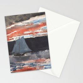 Winslow Homer's Schooner at Sunset (1880) Stationery Cards