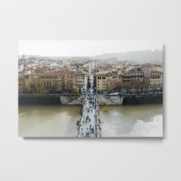 Rome, Italy: view from Castel Sant'Angelo Metal Print
