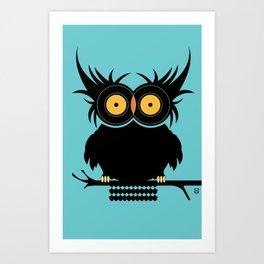 OWL  VINYL RECORDS Art Print