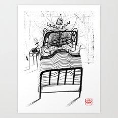 Can't Sleep Art Print