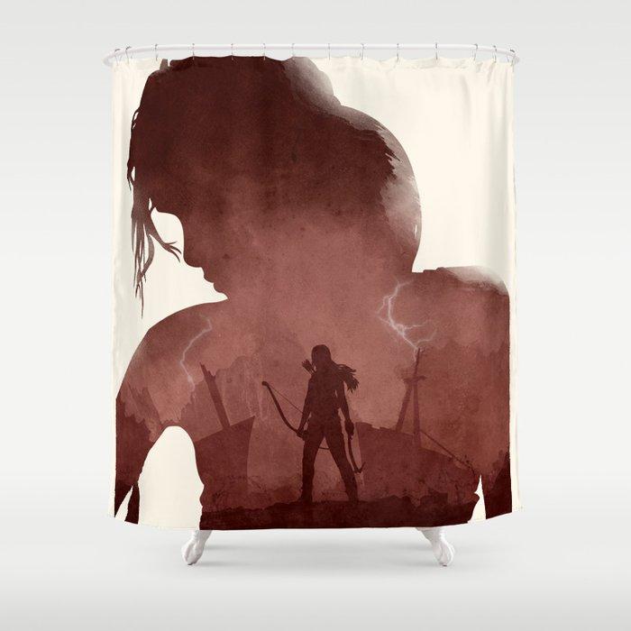 Tomb Raider II Shower Curtain