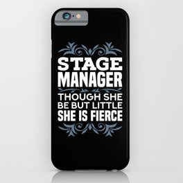 Stage Manager Gifts iPhone Case