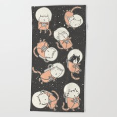 Cat-Stronauts Beach Towel