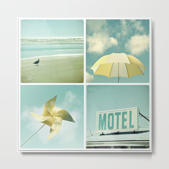 Coastal Collage Metal Print