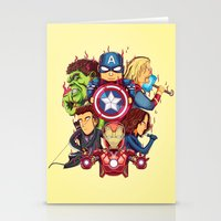 avenger Stationery Cards featuring The Avenger by rendhy wahyu