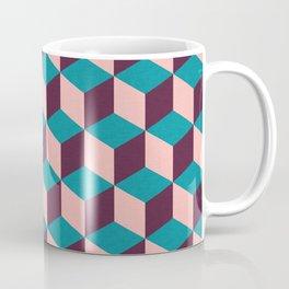 Mod cube purple blue and pink pattern Coffee Mug