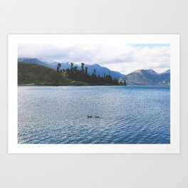 Lake Wakatipu Art Print