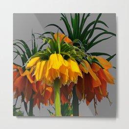 YELLOW CROWN IMPERIAL WATERCOLOR  FLOWERS Metal Print
