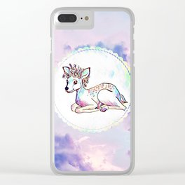 Crown in the Clouds Clear iPhone Case