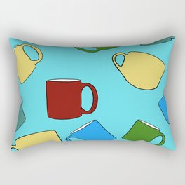 Coffee Mugs! Rectangular Pillow
