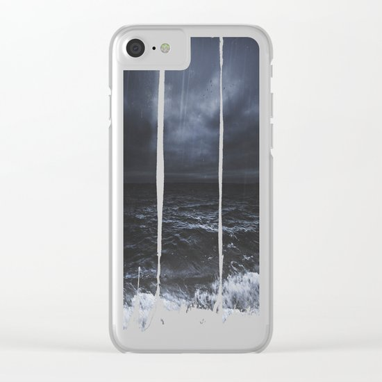 Lost in the sea Clear iPhone Case