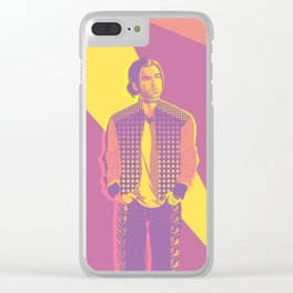 Retro Bucky Clear iPhone Case
