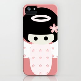 Angel Kokeshi iPhone Case