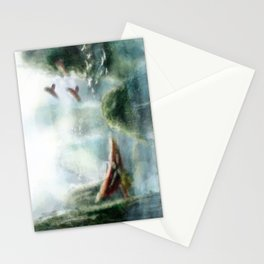 Flight through the Mountains Stationery Cards