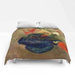 """Odilon Redon """"Flowers in a Blue Cup (Fleurs dans une coupe bleue)"""" Comforters"""