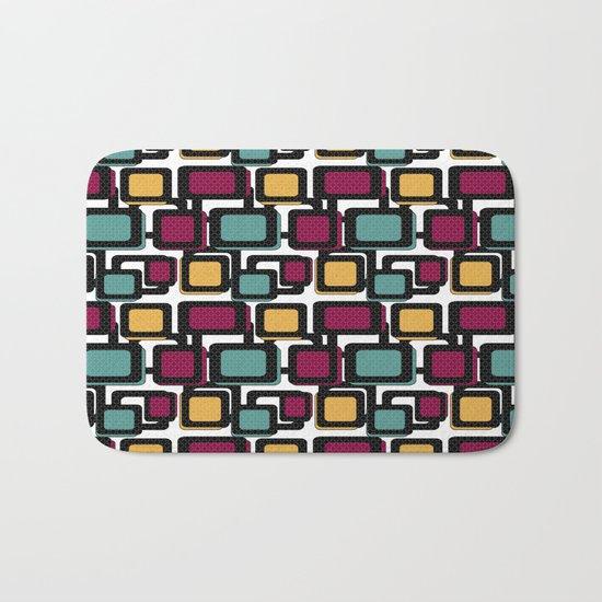 Seamless pattern with geometric elements Bath Mat
