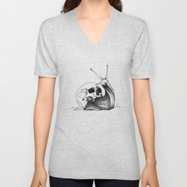This Skull Is My Home (Snail & Skull) Unisex V-Neck