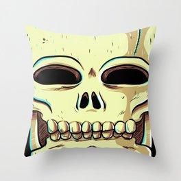 Skelly Throw Pillow