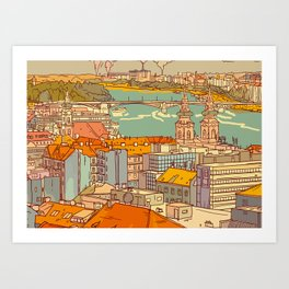 Budapest digital 2. Art Print