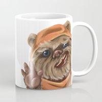 ewok Mugs featuring Ewok by electricorn