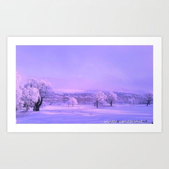 winter wonderland. Art Print