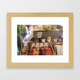 Flowers at Market Framed Art Print