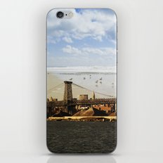 A HELICOPTER IN HER SKY, A SEAGULL ON HIS BRIDGE iPhone & iPod Skin