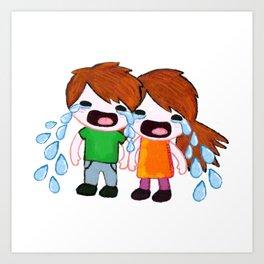 Weepy Twins Art Print