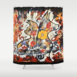 C and D Lovers 2 Shower Curtain