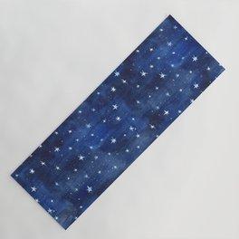 Midnight Stars Night Watercolor Painting by Robayre Yoga Mat