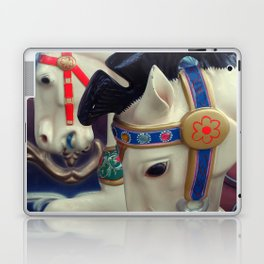 horse on the carousel Laptop & iPad Skin