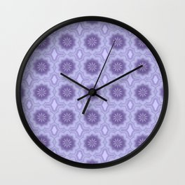 Pretty Floral Pattern in Lavender Wall Clock
