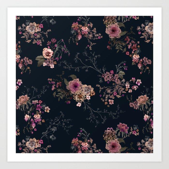 Japanese Boho Floral Art Print