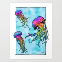 tame impala Art Prints featuring Flow - Tame Impala by JT.Camargo