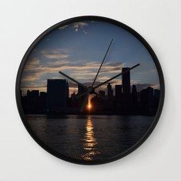 Manhattan From Queens Wall Clock