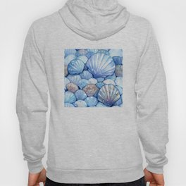 Sea Shells Aqua Hoody