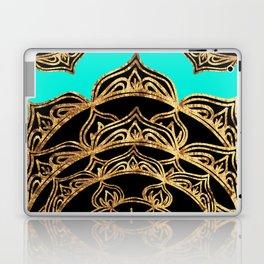 Gold Lace on Turquoise Laptop & iPad Skin