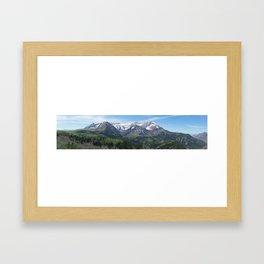 Mount Timpanogos in Utah's Wasatch Mountain Range Framed Art Print