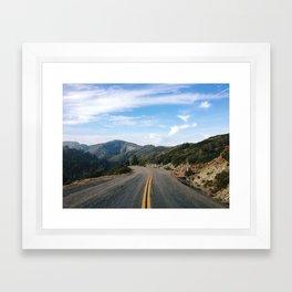 Fairfax-Bolinas Road Framed Art Print