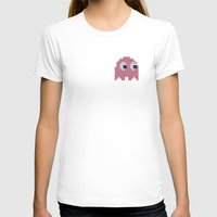 pac man T-shirts featuring Pac-Man Pink Ghost by Psocy Shop