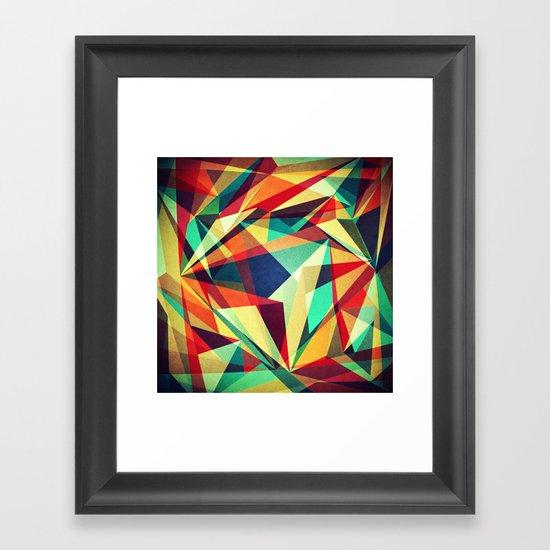 Broken Rainbow Framed Art Print