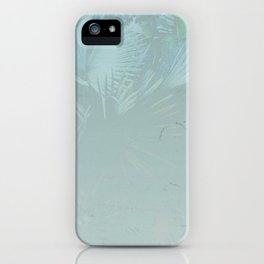 Faded Blue Palms iPhone Case
